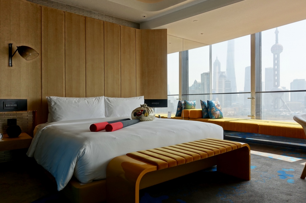 W上海 ワンダフルルーム 外灘を臨むベッドルーム