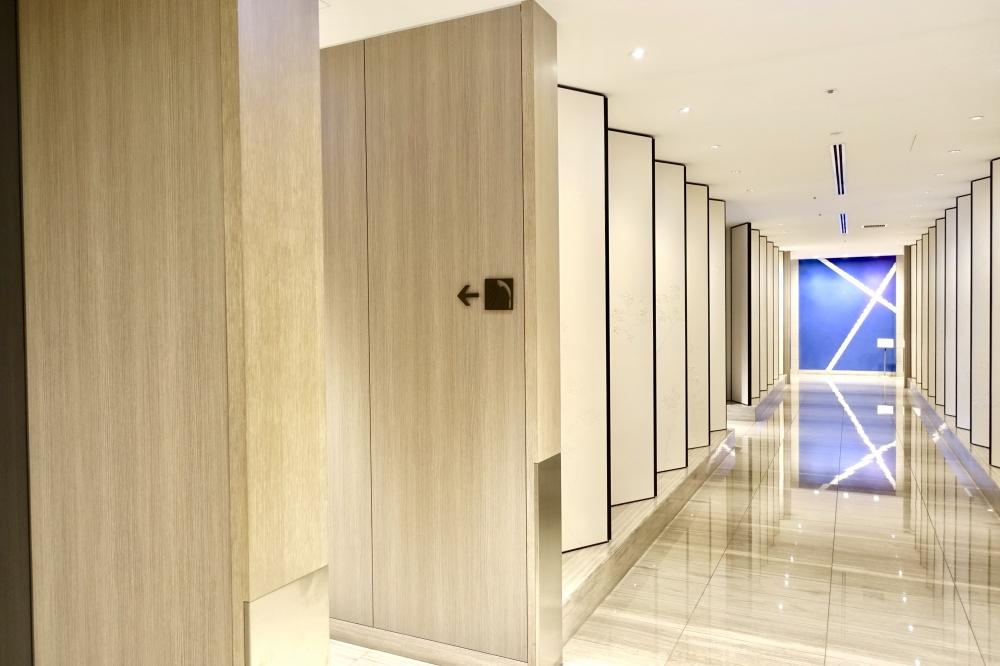 羽田空港国際線ターミナル JALファーストクラスラウンジ シャワー室入口