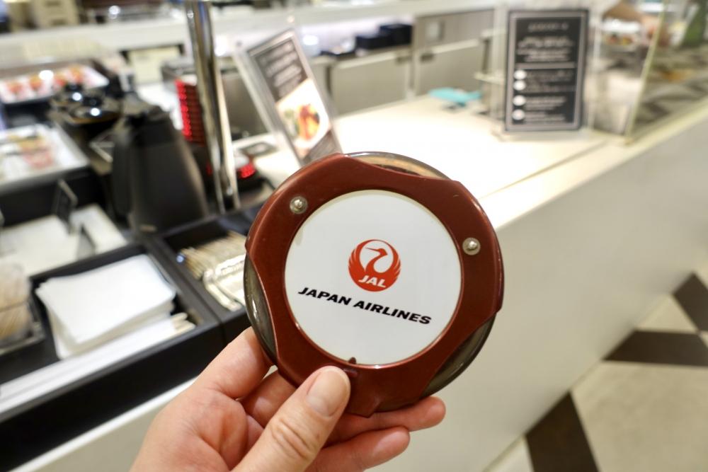羽田空港国際線ターミナル JALファーストクラスラウンジ ダイニング 鉄板焼きサービス 呼び出しベル