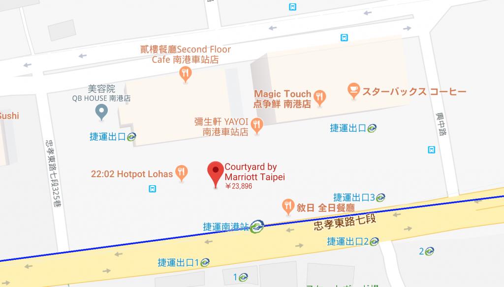 コートヤード台北Googlemap