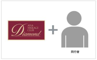 ANAダイヤモンドメンバーと同行者