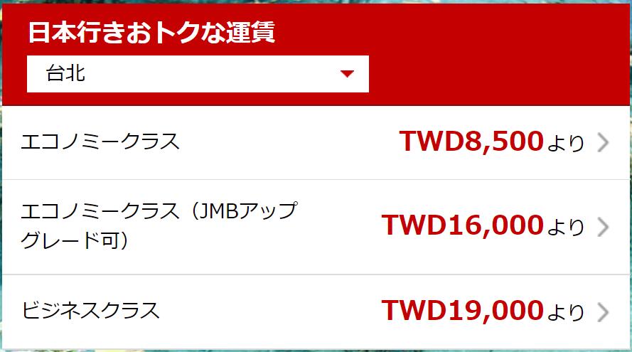 海外発券が安い国その4:台湾・台北
