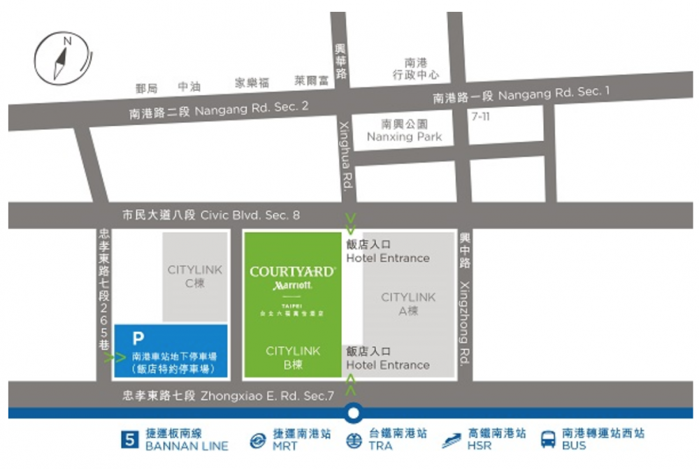 コートヤード台北詳細地図