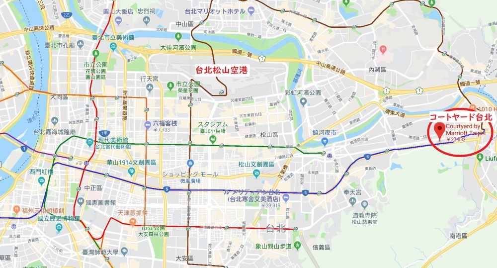 コートヤード台北マップ