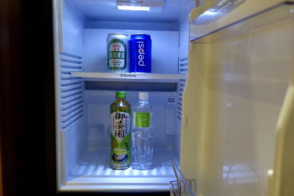 コートヤード台北エグゼクティブルーム冷蔵庫の中身