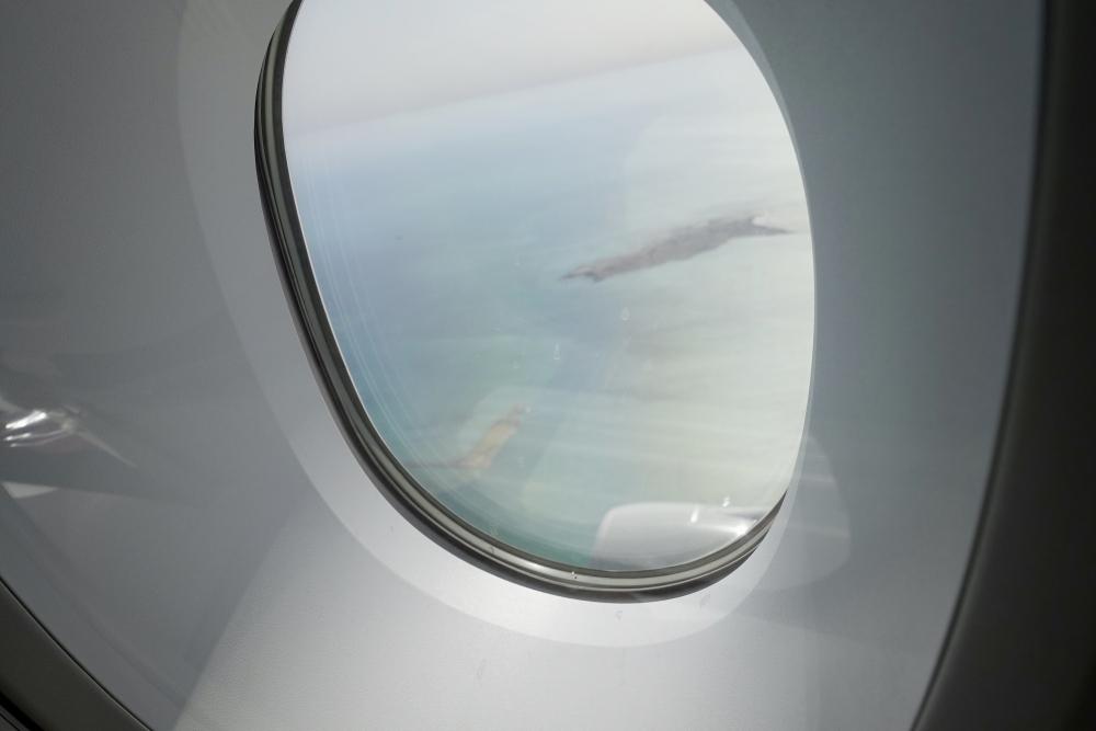 カタール航空パリ行きの機窓から