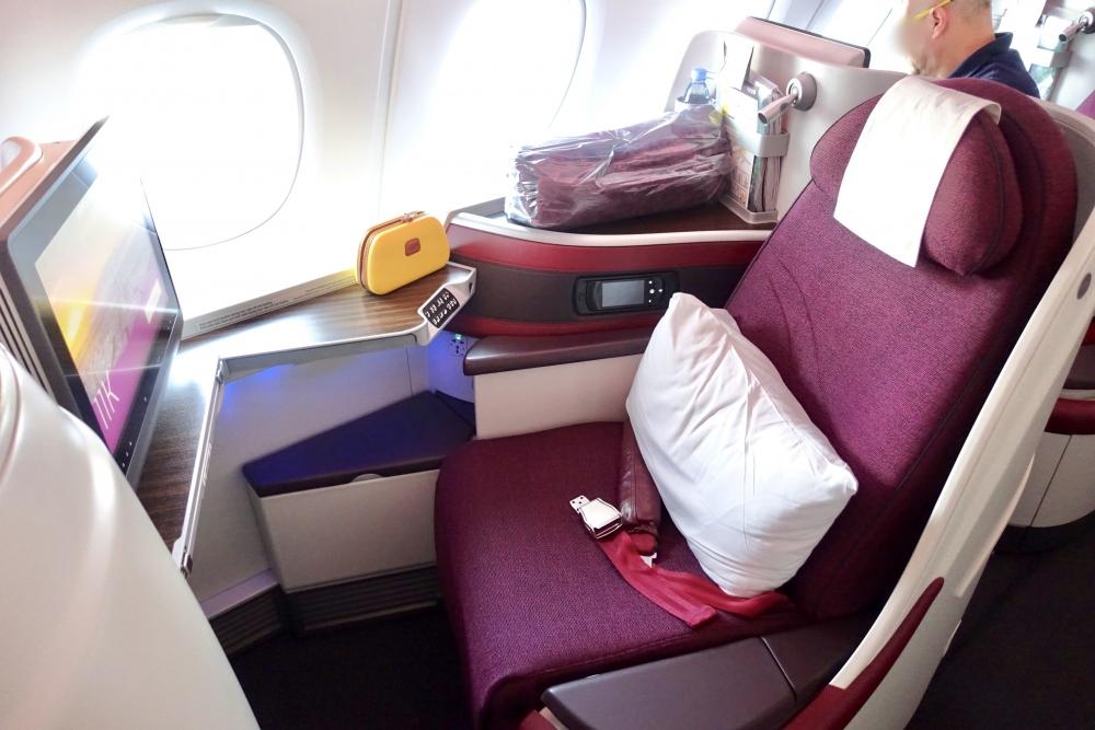 QP39便ビジネスクラス11Kのシート