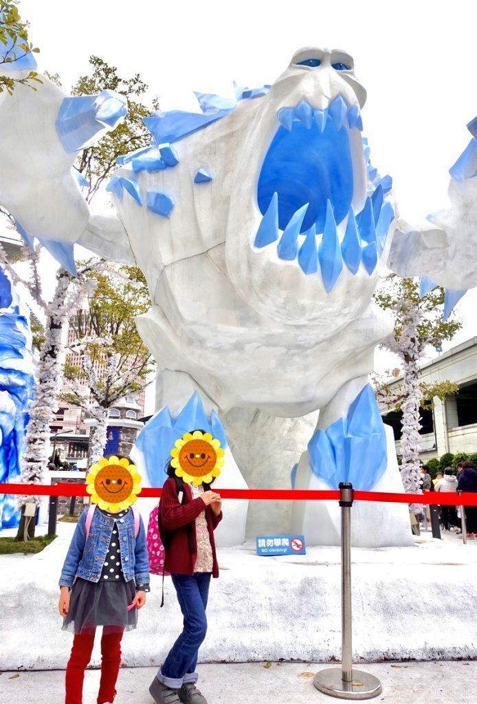 台北101 アナと雪の女王 ジオラマ マシュマロウ
