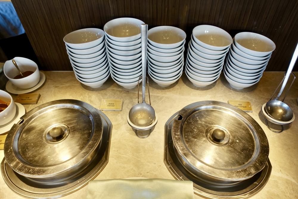 コートヤード台北エグゼクティブラウンジ朝食ブッフェ・おかゆ