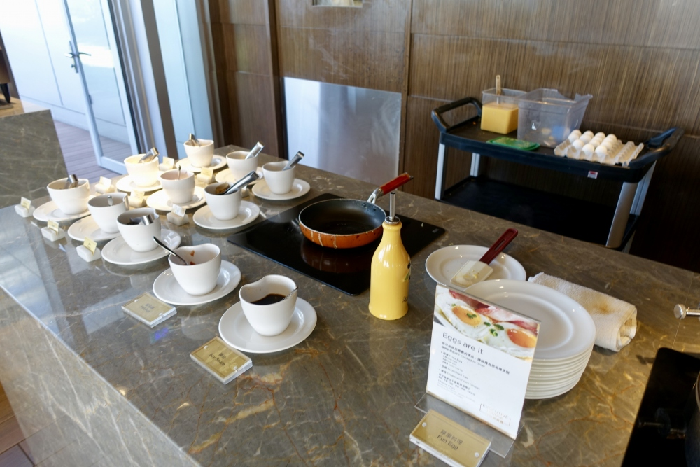コートヤード台北エグゼクティブラウンジ朝食ブッフェ・エッグステーション