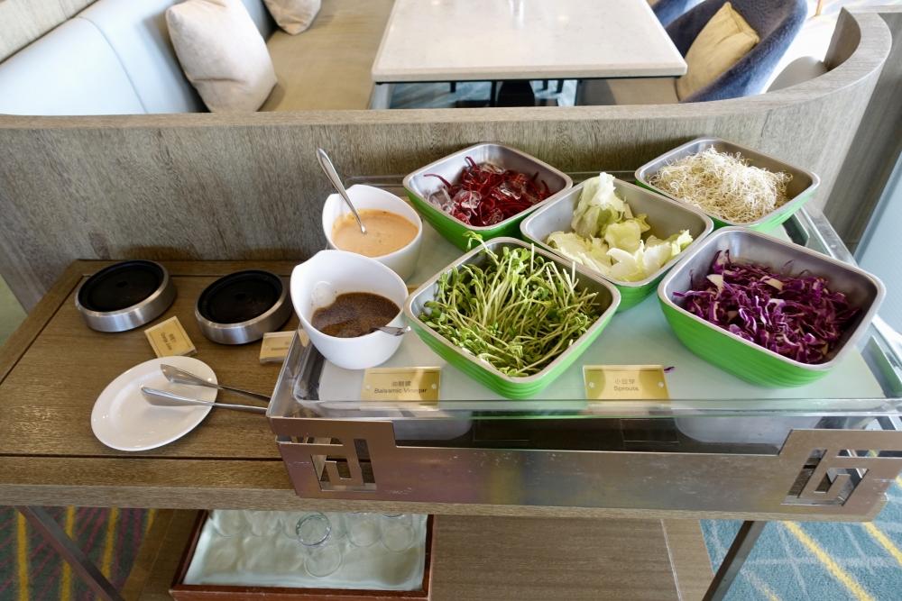 コートヤード台北エグゼクティブラウンジ朝食ブッフェ・サラダ