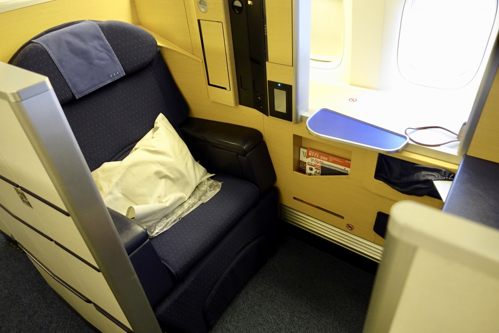 ニューヨーク・JFケネディ空港からANAファーストクラスに搭乗