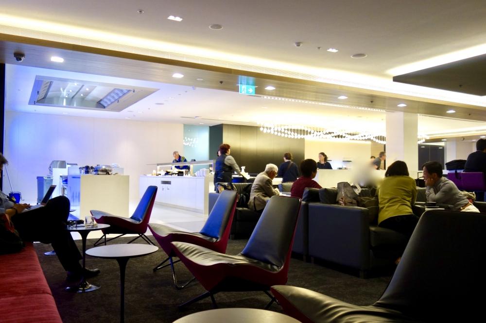 シドニー国際空港ニュージーランド航空ラウンジのインテリア
