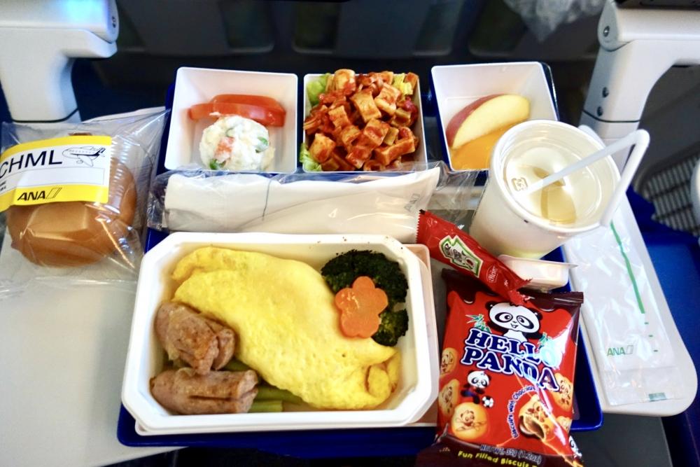 台北ー羽田ANA854機内食子供用