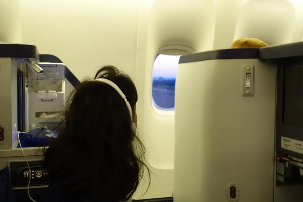 ANA203便ビジネスクラスフランクフルトに到着!