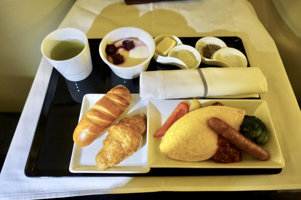 ANA203便ビジネスクラス機内食朝食