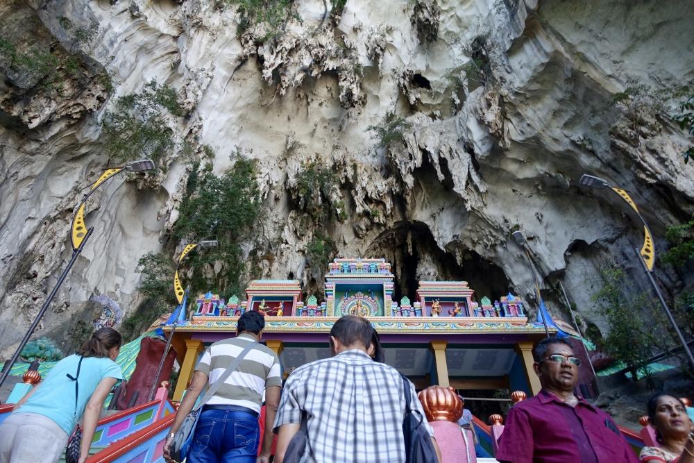 バトゥ洞窟階段の頂点