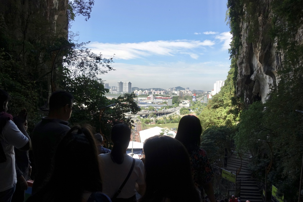 バトゥ洞窟頂上からの眺め