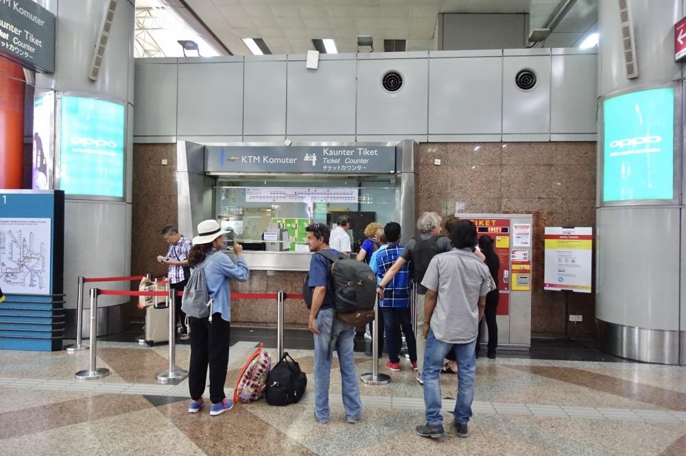 KLセントラル駅KTMKomuterチケット売り場