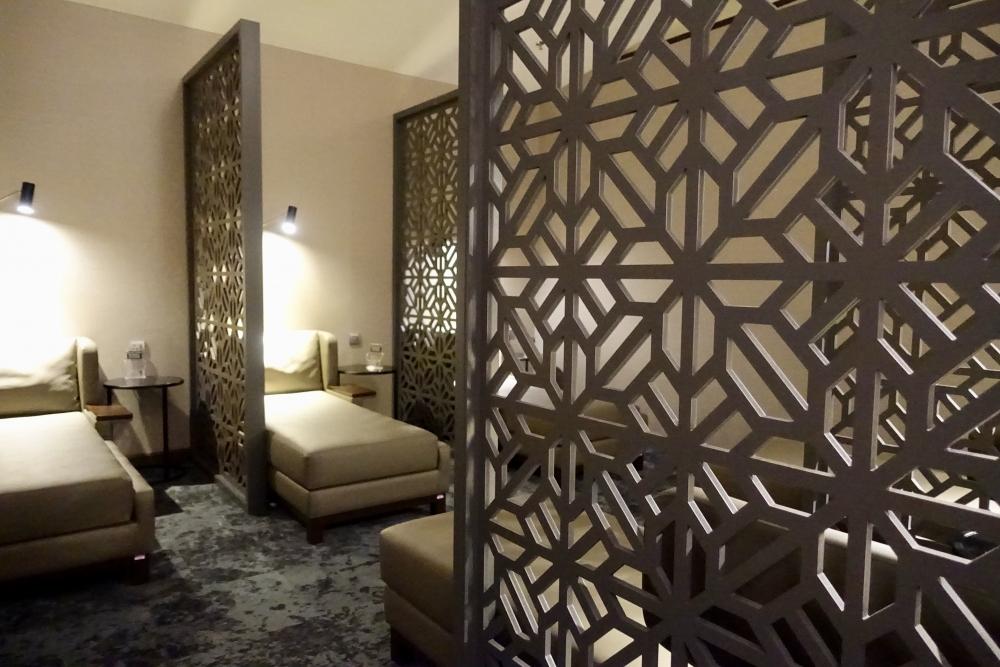 クアラルンプール国際空港マレーシア航空ゴールデンラウンジ仮眠室の中