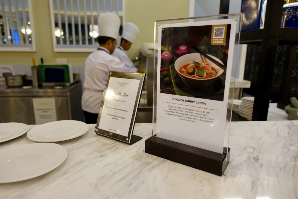 マレーシア航空ゴールデンラウンジキッチンカウンター