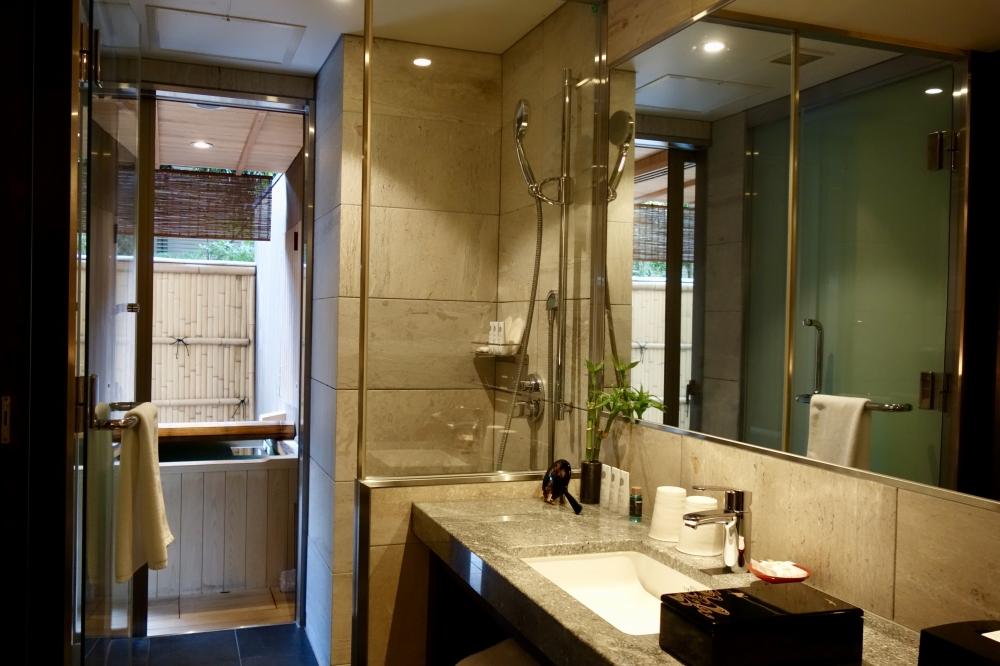 翠嵐ラグジュアリーコレクションホテル京都柚葉シャワー室