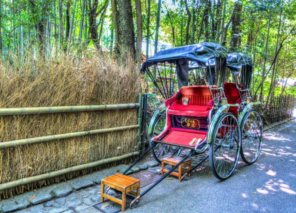 嵐山の人力車