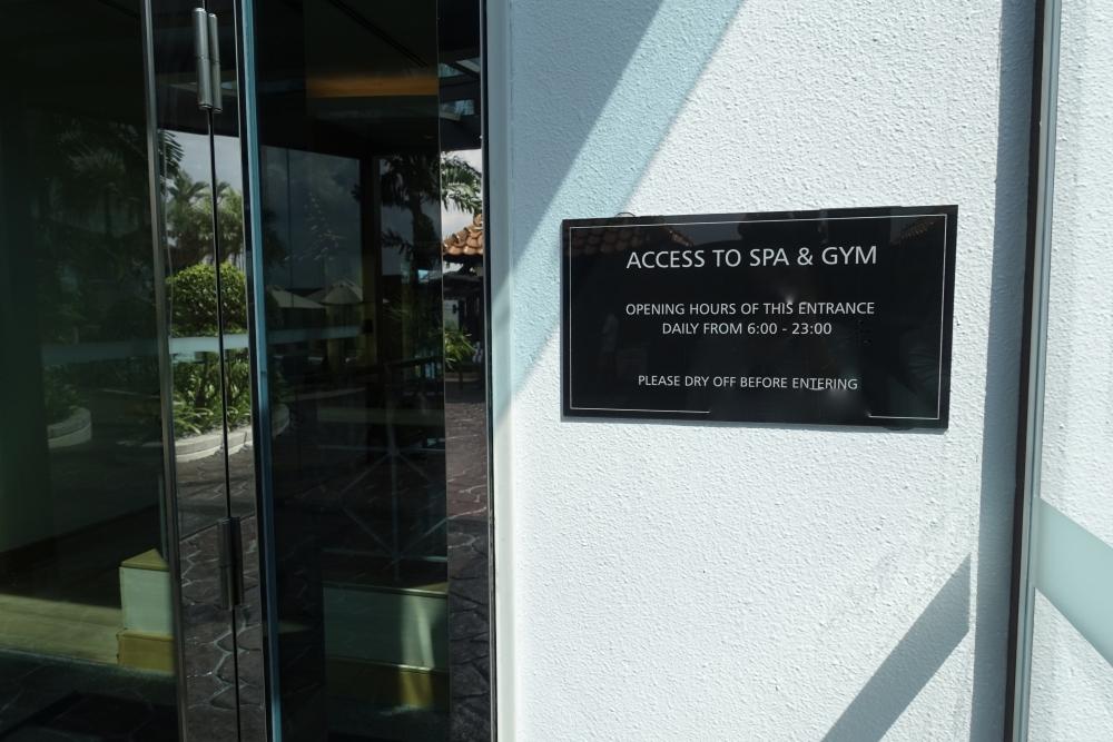 ヒルトンクアラルンプールのトレーニングジム